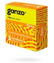 Презервативы Ganzo Juice №3 цветные и ароматизированные, 3 шт. - Ganzo