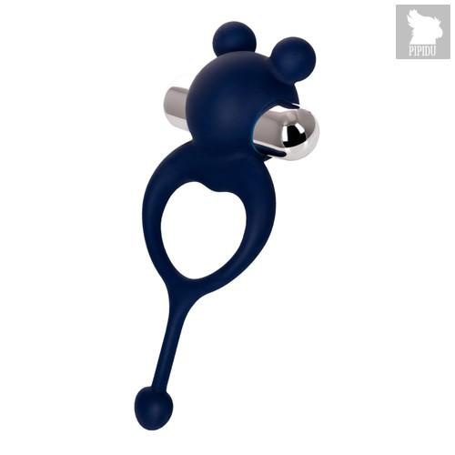 Виброкольцо с хвостиком JOS MICKEY синий, цвет синий - Jos