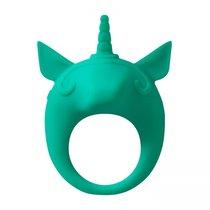 Зеленое эрекционное кольцо Unicorn Alfie, цвет зеленый - Lola Toys