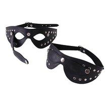Черная маска с отстегивающимися шорами и велюровой отделкой, цвет черный - Le Frivole