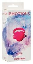 Эрекционное виброкольцо Emotions Heartbeat Pink - Lola Toys