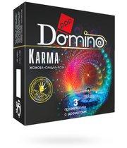 Ароматизированные презервативы Domino Karma - 3 шт. - LUXLITE