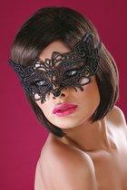 Широкая, закрывающая нос ажурная маска, цвет черный, размер OS - Livia Corsetti