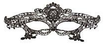Нитяная маска в форме диадемы, цвет черный - Toyfa