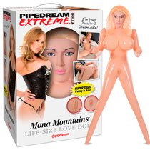 Кукла надувная PDX Dollz Mona Mountains, цвет телесный - Pipedream