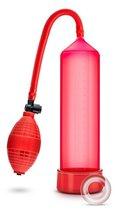 Красная вакуумная помпа VX101 Male Enhancement Pump, цвет красный - Blush Novelties