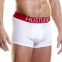 Боксеры Hustler на широкой резинке из микрофибры, цвет белый, L - Hustler Lingerie