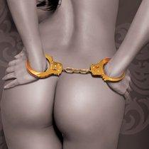 Золотистые наручники Metal Cuffs, цвет золотой - Pipedream