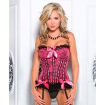 Корсет Blythe с розовым кружевом, цвет розовый, XL - Coquette Internatonal