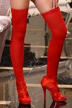 Sunspice Чулки на резинке красные, цвет красный, OS - Sunspice