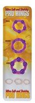 Набор из 3 стимулирующих эрекционных колец, цвет фиолетовый - Seven Creations