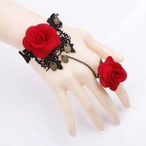 Оригинальный браслет Bidane с розами и подвесками, цвет красный/черный, S-L - Livia Corsetti