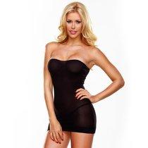 Ультракороткое облегающее платье-бюстье, цвет черный, размер S-L - Hustler Lingerie