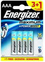 Батарейки Energizer MAX типа E92/AAA - 4 шт. (3+1 в подарок) - Energizer