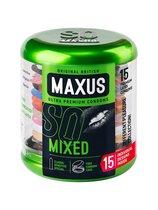 Презервативы в металлическом кейсе MAXUS Mixed - 15 шт. - maxus