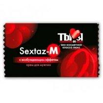 Крем возбуждающий Sextaz-M для мужчин, 1,5 г - Bioritm