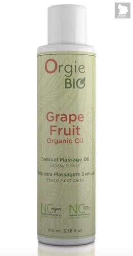 Органическое масло для массажа ORGIE Bio Grapefruit с ароматом грейпфрута - 100 мл. - Orgie