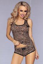 Хлопковая пижамка леопардовой расцветки, цвет леопард, S-M - Livia Corsetti
