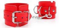 Красные наручники на регулируемых ремешках с цепочкой, цвет красный - Bioritm