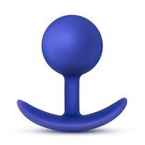 Синяя анальная пробка для ношения Performance Wearable Vibro Plug - 8,4 см, цвет синий - Blush Novelties