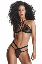Эротический комплект Aina, цвет черный, L - Demoniq