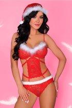 Боди Minerva в праздничном стиле, цвет красный, S-M - Livia Corsetti