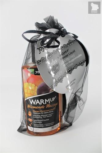 *JoyDivision WARMup Манго + Маракуйя 150мл Съедобный разогревающий массажный гель + маска на глаза - Joy Division