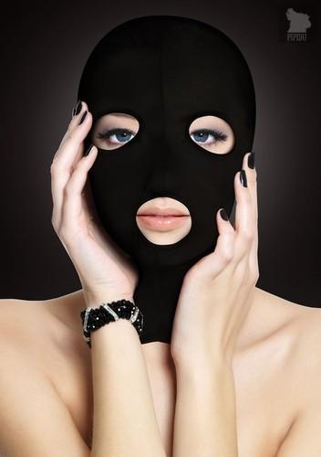 Черная маска Subversion Mask с прорезями для глаз и рта, цвет черный - Shots Media