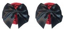 Красные пэстисы Blaze с черными бантиками, цвет красный/черный - Lola Lingerie