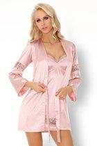 Соблазнительный комплект Deliam с кружевными вставками, цвет розовый, S-M - Livia Corsetti