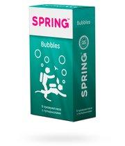 Презервативы Spring Bubbles с пупырышками, 9 шт. - Spring