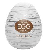 Мастурбатор-яйцо EGG Silky II, цвет белый - Tenga