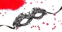 Черная ажурная текстильная маска Андреа, цвет черный - Bioritm