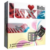 Презервативы Luxe Mini Box Игра - 3 шт. - LUXLITE