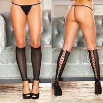 Гетры Ice Queen со шнуровкой, цвет черный, OS - Hustler Lingerie