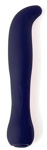 Темно-синий перезаряжаемый G-вибратор BAELLI - 12 см., цвет темно-синий - ML Creation