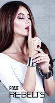 наручники с зеркальным элементом Rosie Black, цвет черный - Rebelts