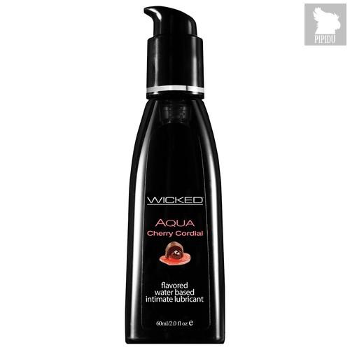 Лубрикант Wicked Aqua Cherry Cordial со вкусом вишневого ликера, 60 Wicked Aqua Cherry Cordialмл - Wicked