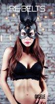 Чёрная маска Gisele Black с длинными ушками, цвет черный - Rebelts