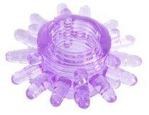 Фиолетовое гелевое эрекционное кольцо с шипиками, цвет фиолетовый - Toyfa