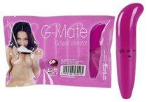 Ярко-розовый мини-вибратор для G-стимуляции - 15,5 см., цвет розовый - ORION