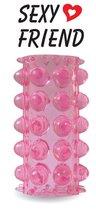 Открытая розовая насадка на фаллос - 6,4 см., цвет розовый - Bioritm