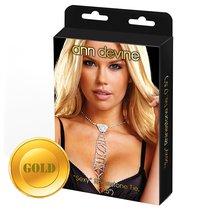 Галстук Sexy Rhinestone Tie из кристаллов, цвет золотой - Ann Devine