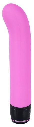 Розовый изогнутый вибратор Mr. Nice Guy - 23 см., цвет розовый - ORION