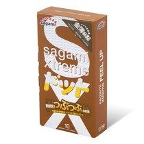 Презервативы Sagami Xtreme Feel Up с точечной текстурой и линиями прилегания - 10 шт., цвет прозрачный - Sagami