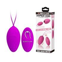 Виброяйцо Baile PrettyLove Hyper EGG с пультом ДУ с силиконовой оболочке, цвет розовый - Baile