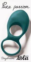 Зеленое эрекционное виброкольцо Daydream, цвет зеленый - Lola Toys