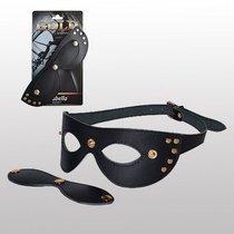 Кожаная маска с шорами Sitabella Gold Collection, цвет черный - Sitabella (СК-Визит)