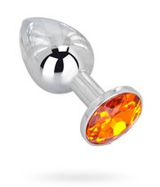 Мини-плаг Erotic Fantasy - Juicy Orange с кристаллом, цвет оранжевый - Erotic Fantasy