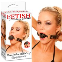 Кляп Breathable Ball Gag, цвет черный - Pipedream